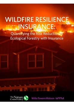 Wildfire resilience insurance: quantifying the risk reduction of ecological forestry with insurance