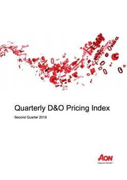 Quarterly D&O Pricing Index - Second Quarter 2019