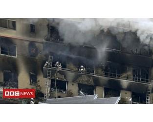 Ten dead in suspected arson at Japan anime studio - BBC