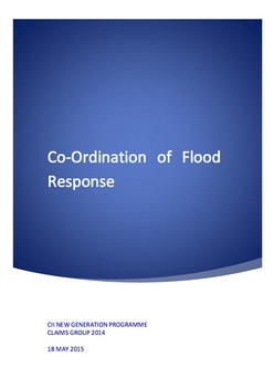 Co-Ordination of Flood Response