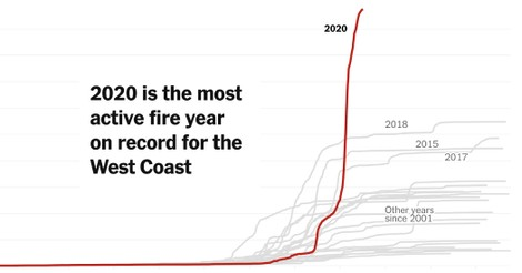 Record Wildfires on the West Coast Are Capping a Disastrous Decade - The New York Times