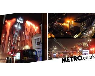 Student accommodation blaze 'crawled up cladding like it was nothing' - Metro