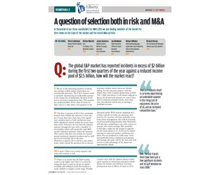 A question of selection both in risk and M&A