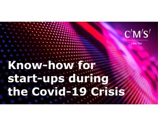 Video: Know-how for start-ups during the Covid-19 Crisis