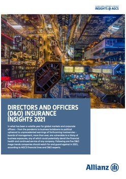 Directors and Officers Insurance Insights 2021 - Allianz