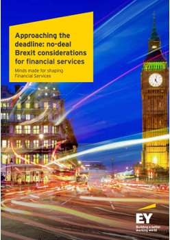 Approaching the deadline: no-deal Brexit considerations for financial services