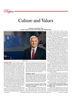 Culture and Values - An Interview with Patrick G. Ryan