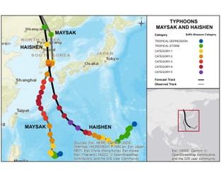 Typhoon Haishen/Maysak - Korean Peninsula & Japan