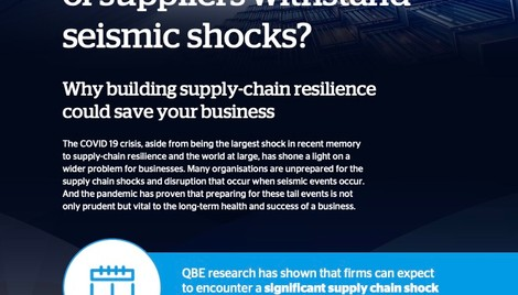 Can your network of suppliers withstand seismic shocks?