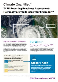 TCFD: a catalyst for corporate action on climate risk and resilience
