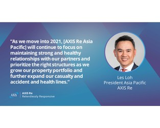 "Axis' Les Loh: Asia's reinsurance market should ""stand on its own"" - Insurance Asia News"