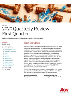 2020 Quarterly Review - First Quarter