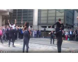 Lloyd's of London Dive In Festival Flash Mob