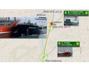 Generals cargo ships collision in Welland Canal, Great Lakes - FleetMon