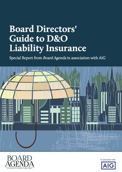 Board Directors' Guide to D&O Liability Insurance