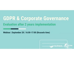Webinar replay: GDPR & corporate Governance, Evaluation after 2 years implementation