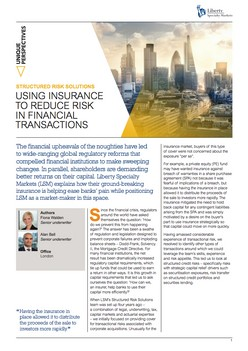 Using Insurance To Reduce Risk In Financial Transactions