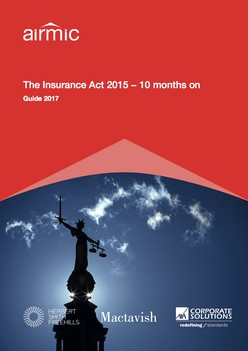 The Insurance Act 2015 − 10 months on