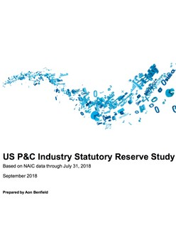 US P&C Industry Statutory Reserve Study