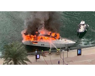 Fire crews tackle yacht fire in Dubai Marina - The National