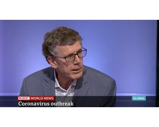 Video: Dr. Robert Muir-Wood discusses the coronavirus with the BBC