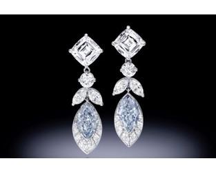 Blue Diamond Earrings Lead Bonhams Auction - Rapaport