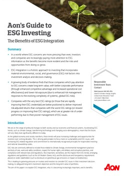 Aon's Guide to ESG Investing