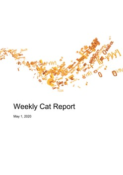 Weekly Cat Report May 1, 2020