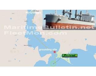 Bulk carrier refloated after 3 days aground, Brazil - FleetMon