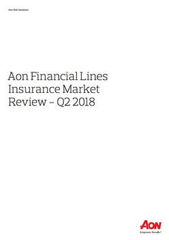 Aon Financial Lines Insurance Market Review - Q2 2018