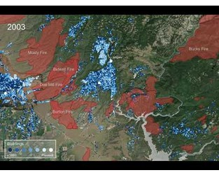 Tracking development and wildfires in Butte County, California from 1980-2018