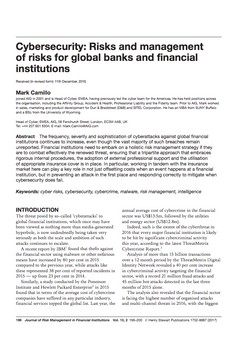 Cyber Risk Management in Financial Institutions