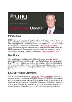 Operations Update