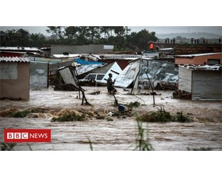 Floods and power cuts hit South Africa - BBC