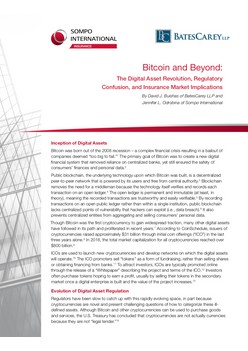 Bitcoin and Beyond: The Digital Asset Revolution, Regulatory Confusion, and Insurance Market Implications