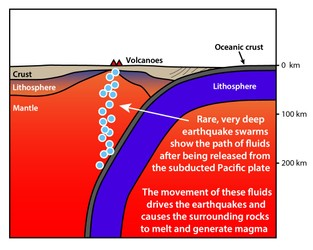 Earthquake swarms reveal missing piece of tectonic plate-volcano puzzle - Phys.org