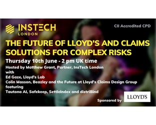 Webcast: The Future of Lloyd's and Claims Solutions for Complex Risks